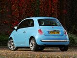 Fiat 500 TwinAir UK-spec 2010 wallpapers