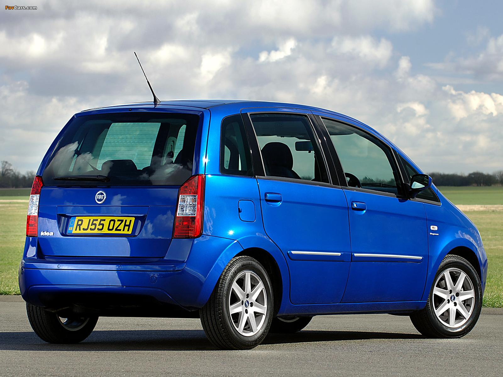 Images of Fiat Idea UK-spec (350) 2006–07 (1600 x 1200)