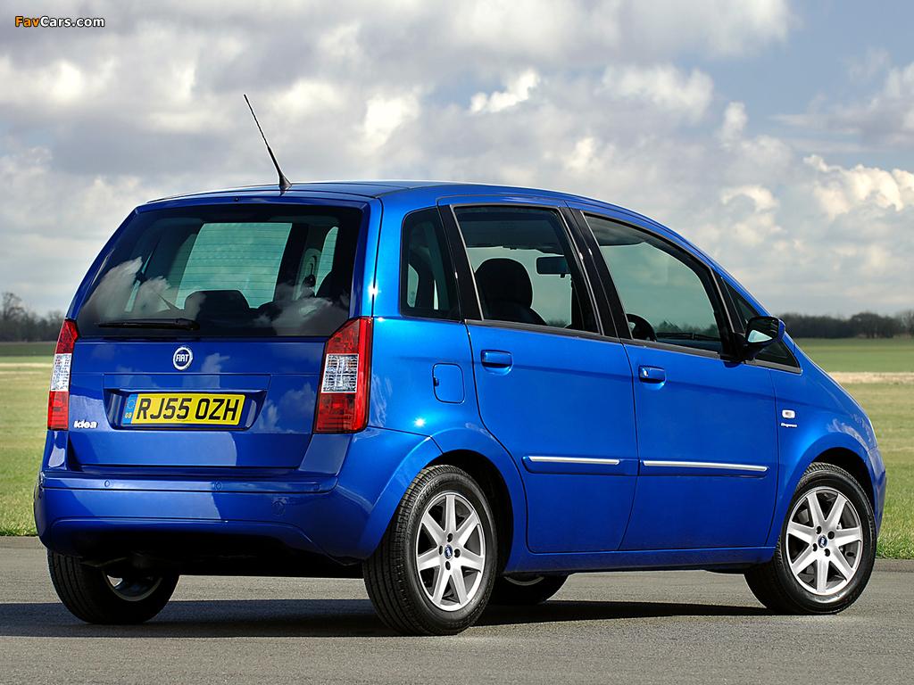 Images of Fiat Idea UK-spec (350) 2006–07 (1024 x 768)