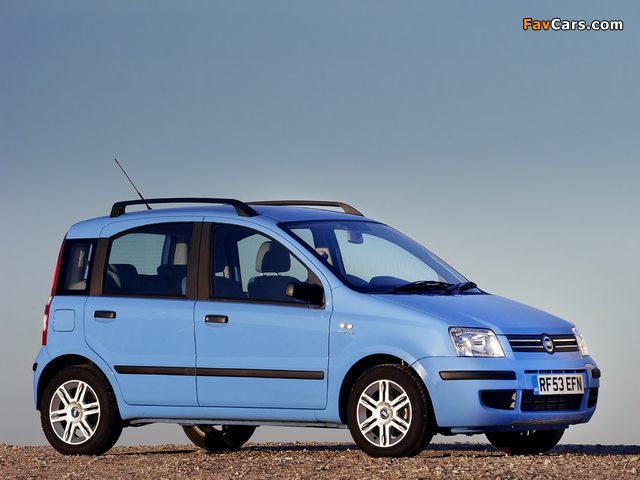 Fiat Panda UK-spec (169) 2004–09 photos (640 x 480)