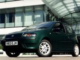 Fiat Punto Sporting UK-spec (188) 1999–2003 photos