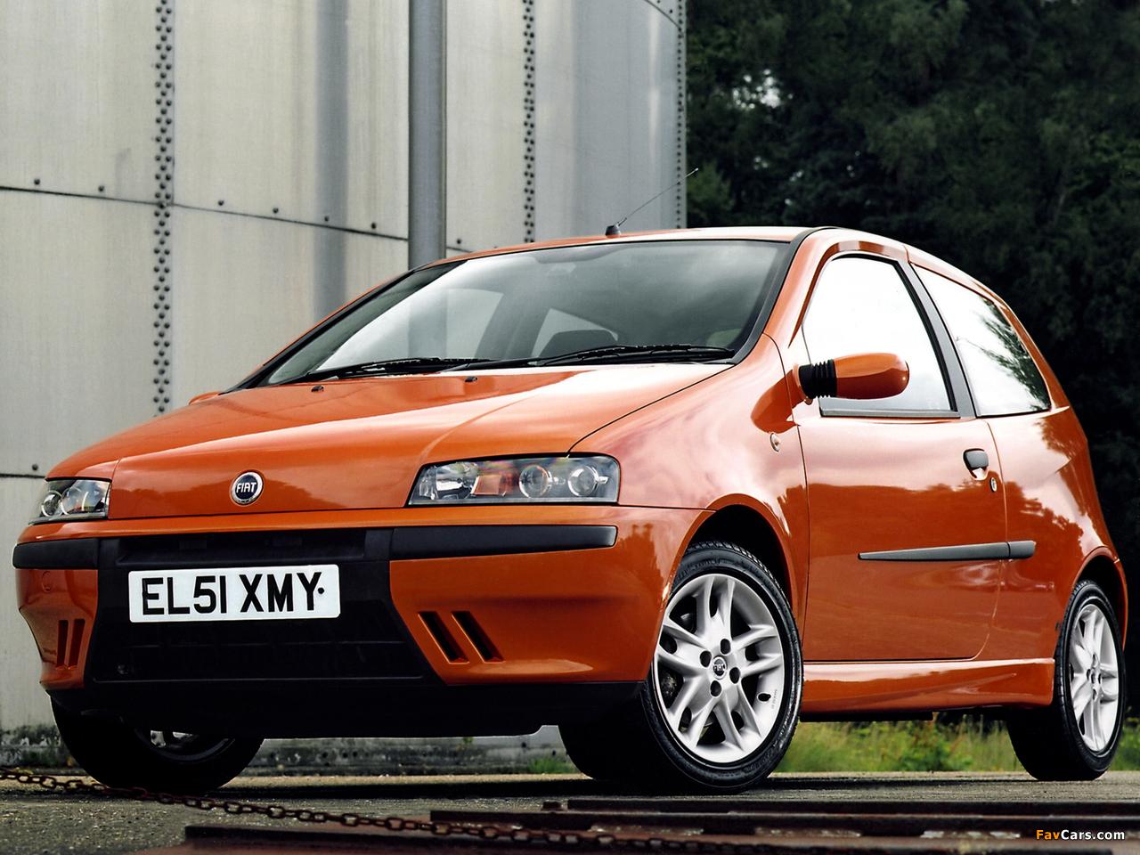 Fiat Punto HGT UK-spec (188) 1999–2003 photos (1280 x 960)