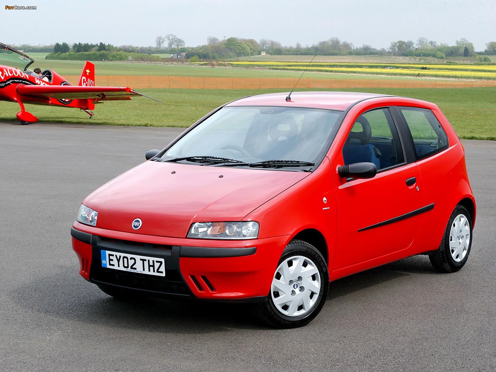Fiat Punto 3-door UK-spec (188) 1999–2003 wallpapers (1600 x 1200)