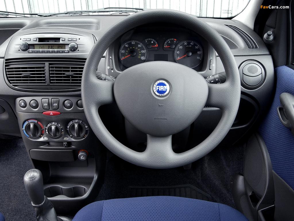 Fiat Punto 5-door UK-spec (188) 2003–05 wallpapers (1024 x 768)