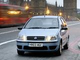 Fiat Punto 5-door UK-spec (188) 2003–05 wallpapers