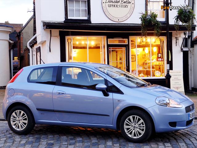 Fiat Grande Punto 3-door UK-spec (199) 2006–10 pictures (640 x 480)