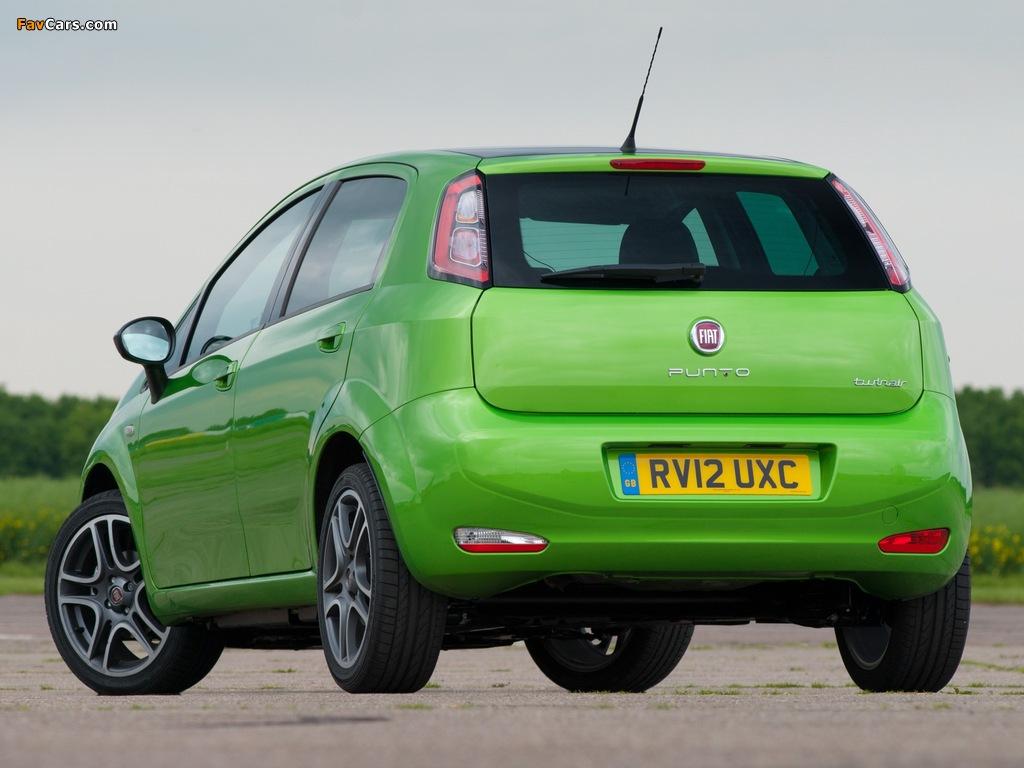 Fiat Punto TwinAir 5-door UK-spec (199) 2012–13 photos (1024 x 768)