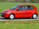 Images of Fiat Punto 3-door UK-spec (188) 1999–2003