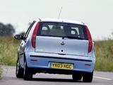 Images of Fiat Punto 5-door UK-spec (188) 2003–05