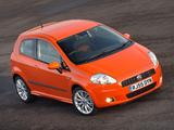 Images of Fiat Grande Punto 3-door UK-spec (199) 2006–10