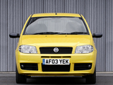 Pictures of Fiat Punto Sporting UK-spec (188) 2003–05