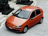 Fiat Punto 5-door NZ-spec (188) 2002–03 wallpapers