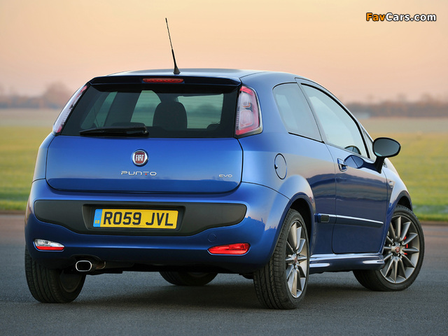 Fiat Punto Evo 3-door UK-spec (199) 2010–12 wallpapers (640 x 480)