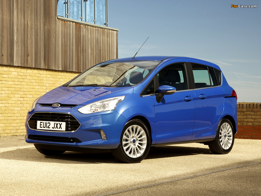 Ford B-MAX UK-spec 2012 pictures (1024 x 768)