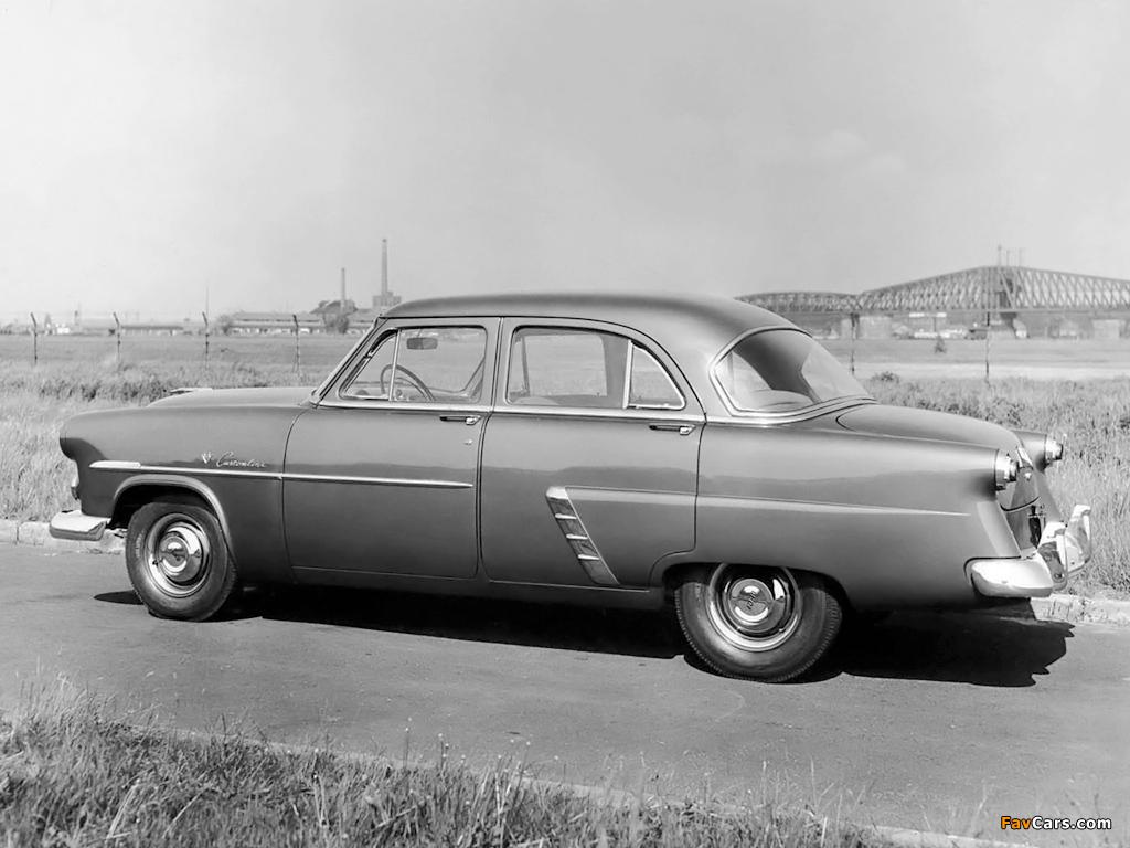 Ford Customline Fordor Sedan (73B) 1952 images (1024 x 768)