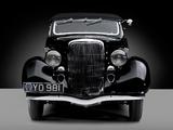 Ford V8 Deluxe Convertible Sedan by Gläser 1936 wallpapers