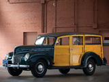 Ford V8 Deluxe Station Wagon (91A-79) 1939 wallpapers