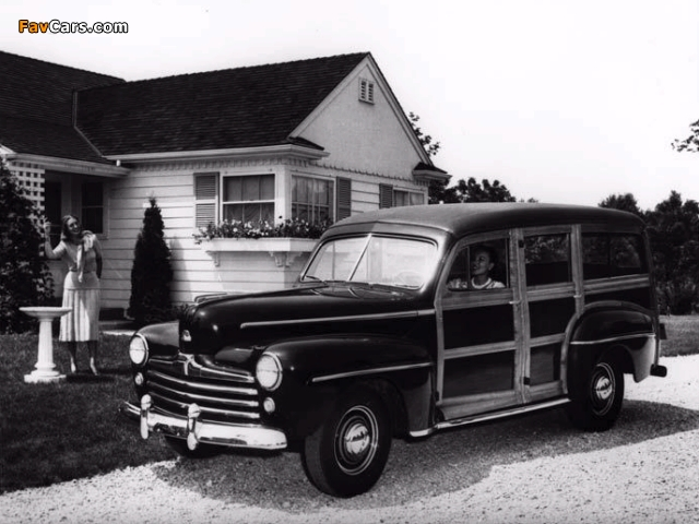 Ford V8 Super Deluxe Station Wagon (79B) 1947 wallpapers (640 x 480)