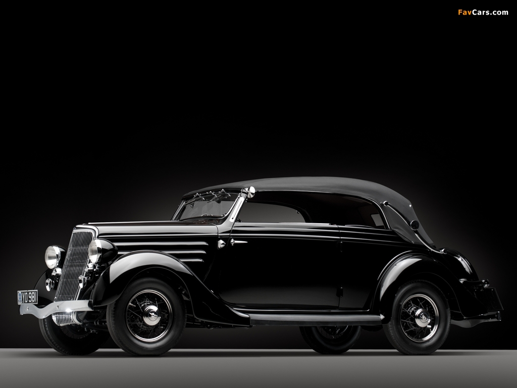 Images of Ford V8 Deluxe Convertible Sedan by Gläser 1936 (1024 x 768)