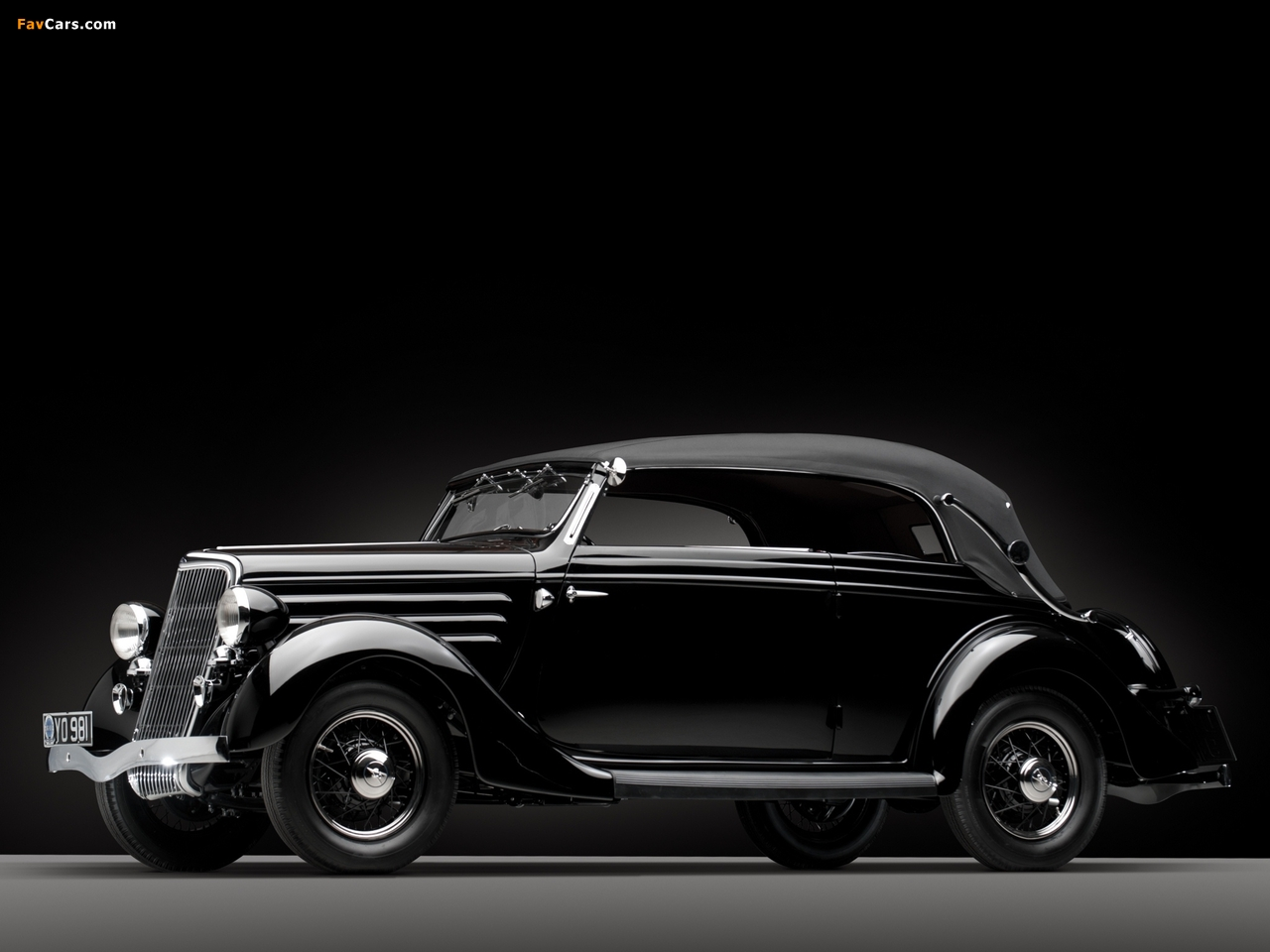 Images of Ford V8 Deluxe Convertible Sedan by Gläser 1936 (1280 x 960)