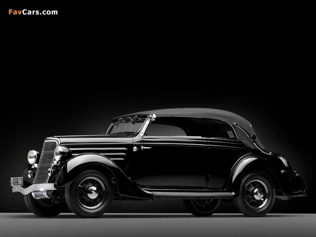 Images of Ford V8 Deluxe Convertible Sedan by Gläser 1936 (640 x 480)