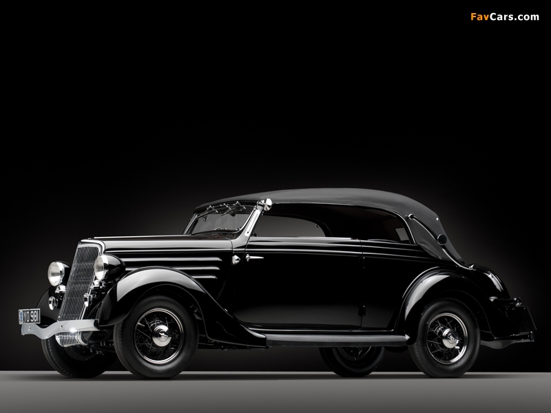 Images of Ford V8 Deluxe Convertible Sedan by Gläser 1936 (800 x 600)
