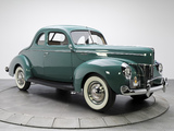 Images of Ford V8 Deluxe 5-window Coupe (01A-77B) 1940