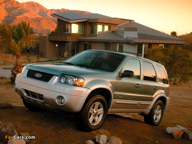 Ford Escape Hybrid 2004–07 images (640 x 480)