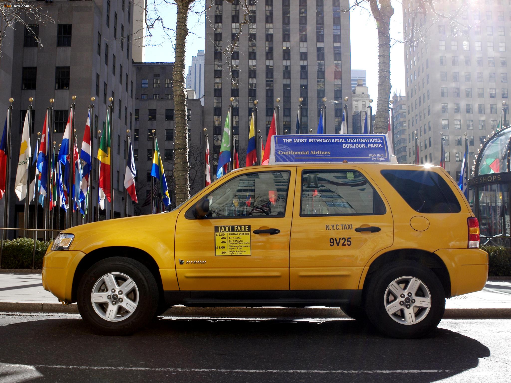 Ford Escape Hybrid Taxi 2005–07 photos (2048 x 1536)
