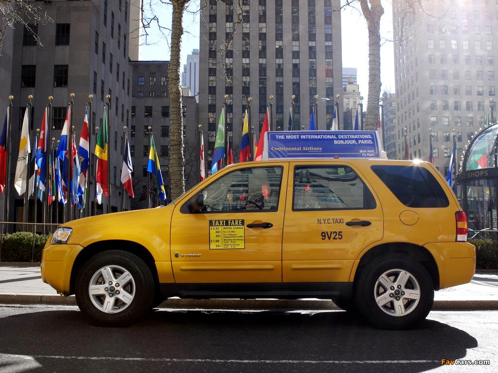 Ford Escape Hybrid Taxi 2005–07 photos (1024 x 768)