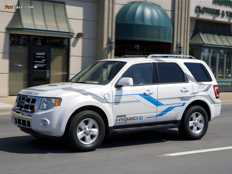 Ford Escape Plug-In Hybrid 2008–12 pictures (800 x 600)