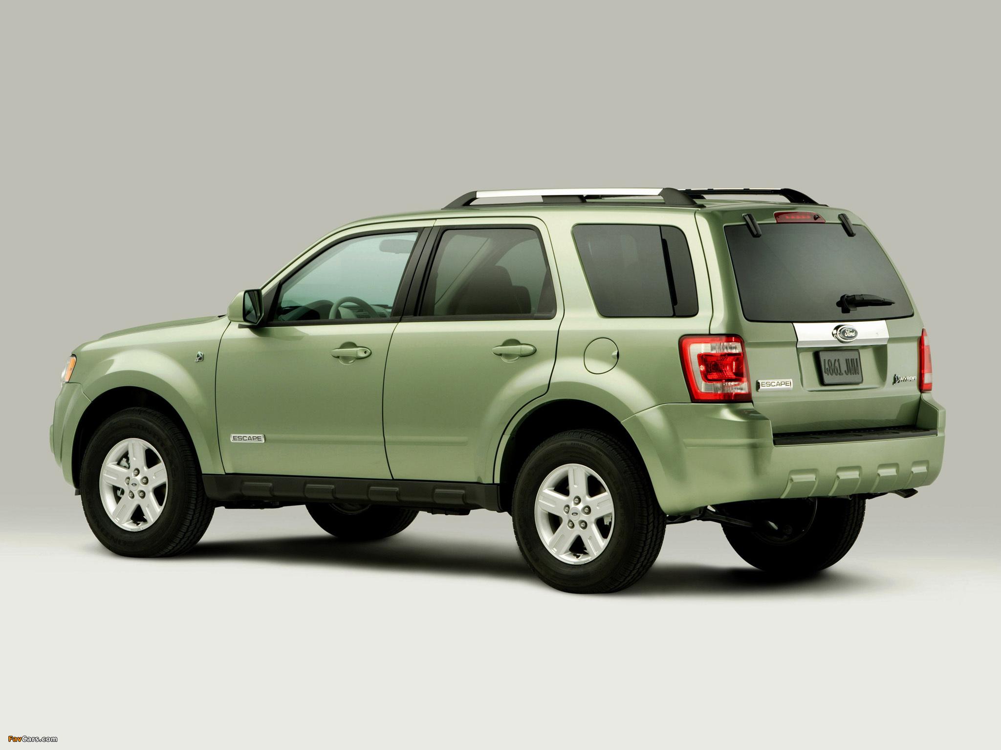 Photos of Ford Escape Hybrid 2007–12 (2048 x 1536)