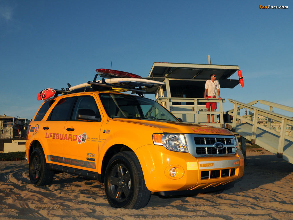 Pictures of Ford Escape Hybrid Lifeguard 2008–12 (1024 x 768)