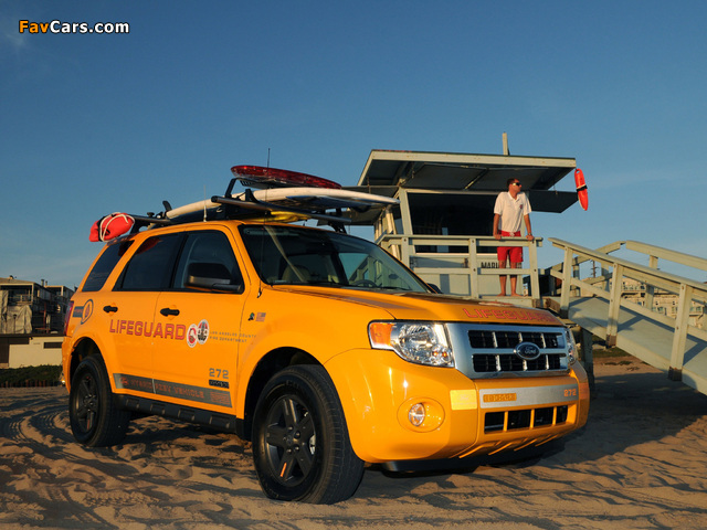 Pictures of Ford Escape Hybrid Lifeguard 2008–12 (640 x 480)