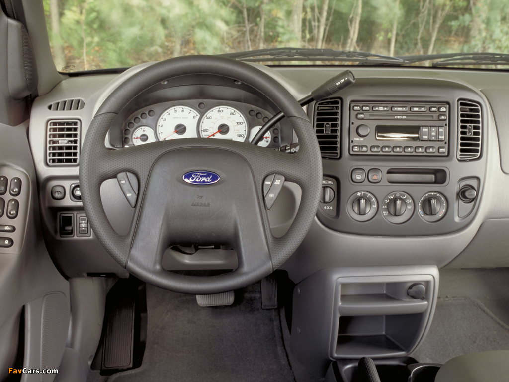 Ford Escape 2000–04 wallpapers (1024 x 768)