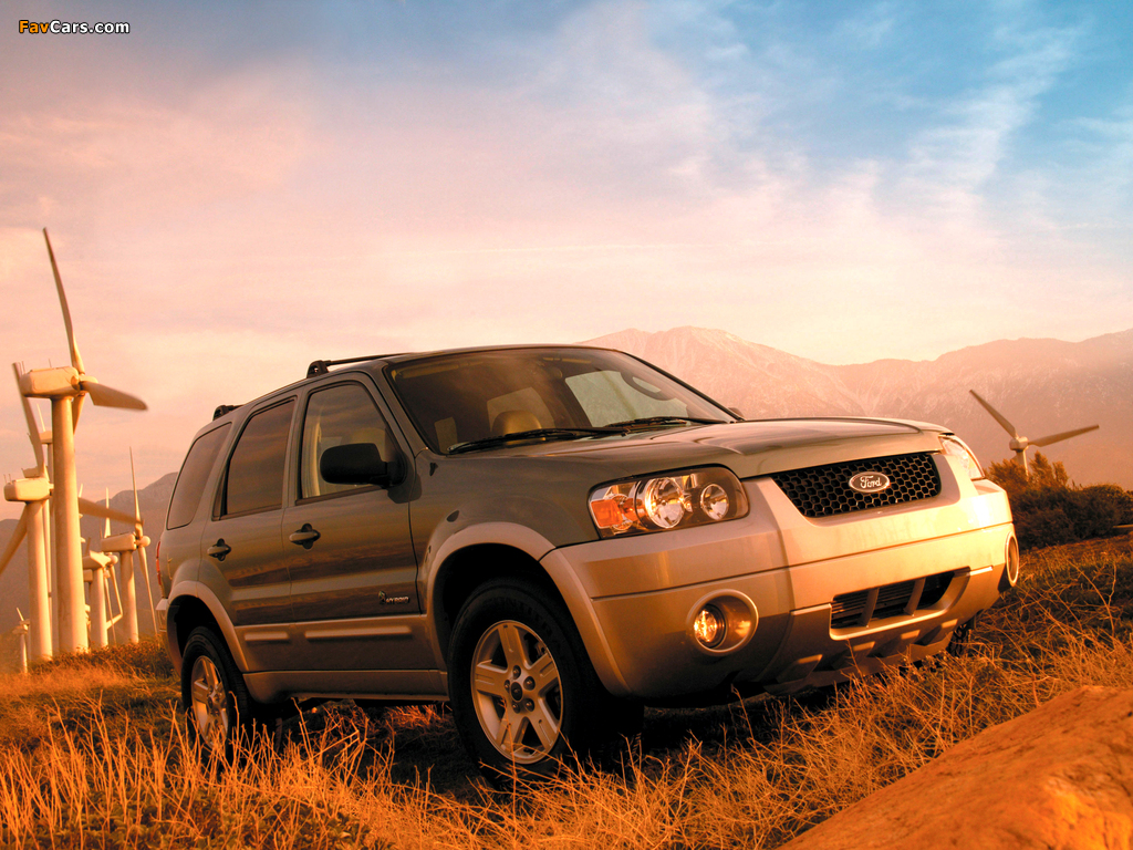 Ford Escape Hybrid 2004–07 wallpapers (1024 x 768)
