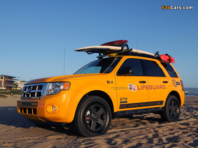Ford Escape Hybrid Lifeguard 2008–12 wallpapers (640 x 480)
