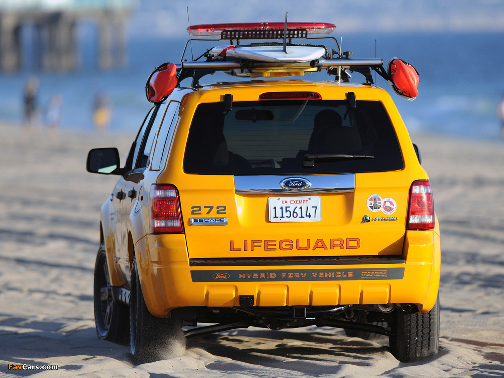 Ford Escape Hybrid Lifeguard 2008–12 wallpapers (1024 x 768)