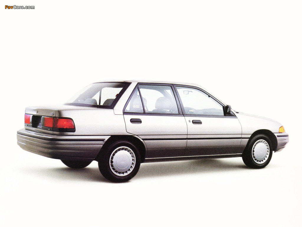 Ford Escort LX Sedan 1992–96 wallpapers (1024 x 768)