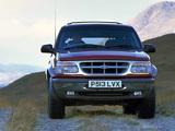 Photos of Ford Explorer UK-spec 1995–2001