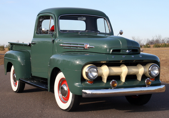 ford f 1 pickup 1951 52 wallpapers