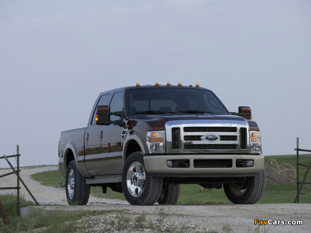Ford F-250 Super Duty Crew Cab 2007–09 images (640 x 480)