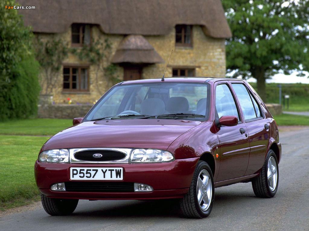 Ford Fiesta 5-door UK-spec 1995–99 photos (1024 x 768)