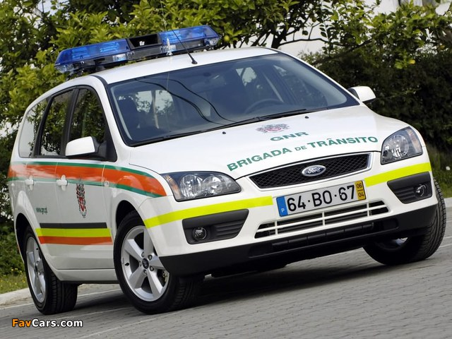 Ford Focus Turnier Police 2006–08 pictures (640 x 480)