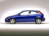 Photos of Ford Focus SVT 3-door US-spec 2002–04