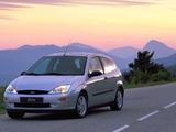 Pictures of Ford Focus 3-door 1998–2001