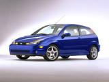 Pictures of Ford Focus SVT 3-door US-spec 2002–04