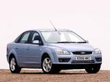 Pictures of Ford Focus Sedan UK-spec 2004–08