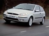 Ford Focus 3-door UK-spec 2001–04 wallpapers