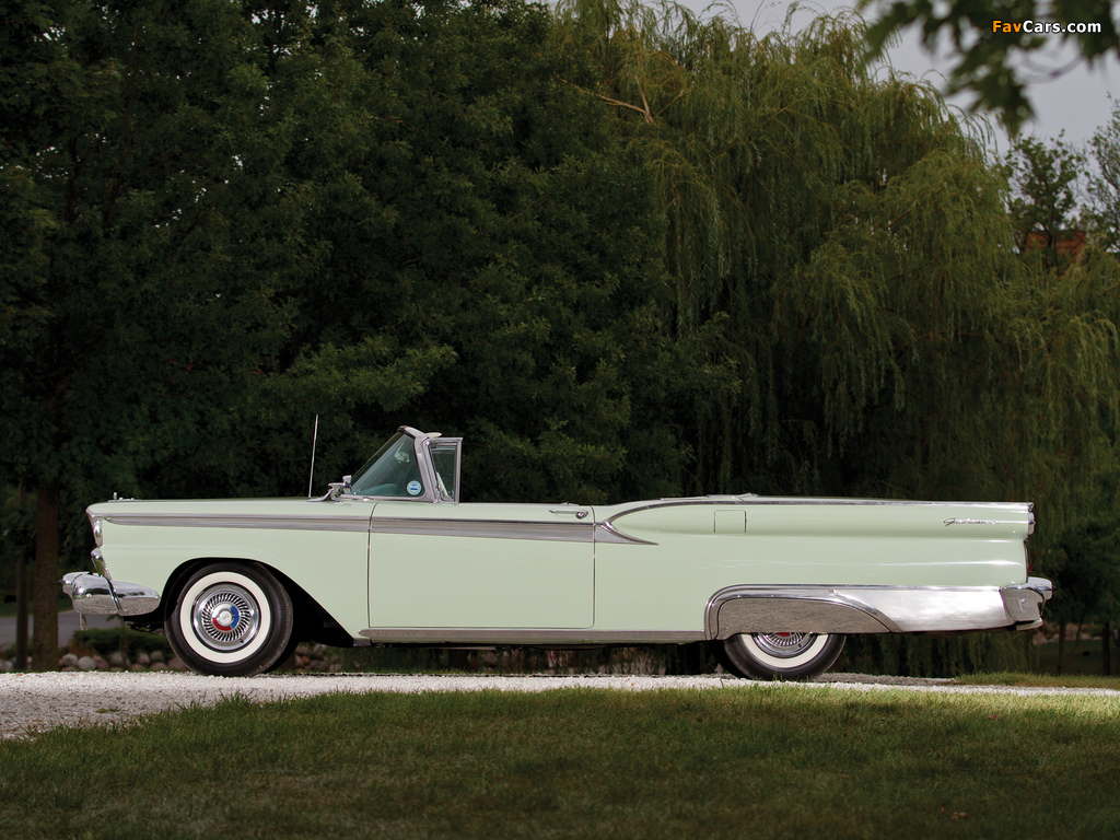 Ford Galaxie Skyliner 1959 wallpapers (1024 x 768)